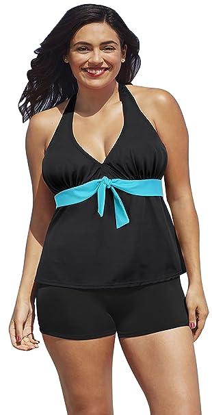 BFUSTYLE Dos Piezas Delgadas Tankini Traje Push Up Bikini Top Baño Traje de baño: Amazon.es: Ropa y accesorios