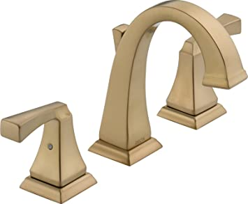delta faucet 3551lfcz dryden two handle widespread bathroom faucet champagne bronze