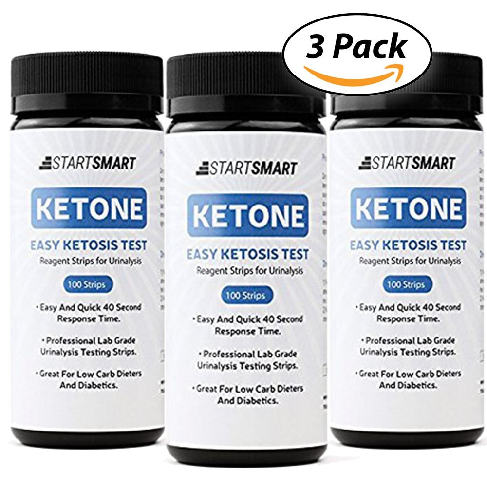 Start Smart Ketone Test Strips With FREE MEAL PLAN Perfect For Ketosis PLUS Storage Vial, 300 ct