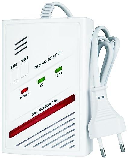 Smartwares 10.013.87 Detector Combinado de Gas CO-Sensor de 5 años 220 voltios