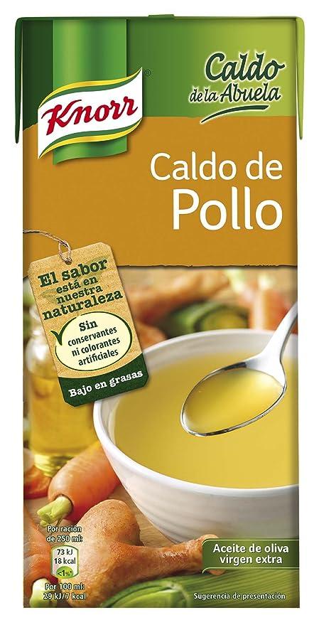 Knorr - Caldo Liquido Pollo, 1 L - , Pack de 6: Amazon.es: Alimentación y bebidas