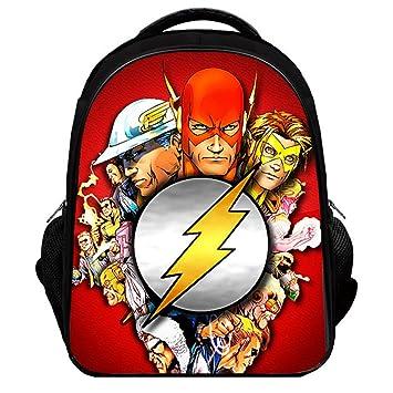 12ddb12c57c Amazon.com   YOURNELO Boy s Color Printed The Flash Rucksack School  Backpack Bookbag (Color 10, L)   Kids  Backpacks