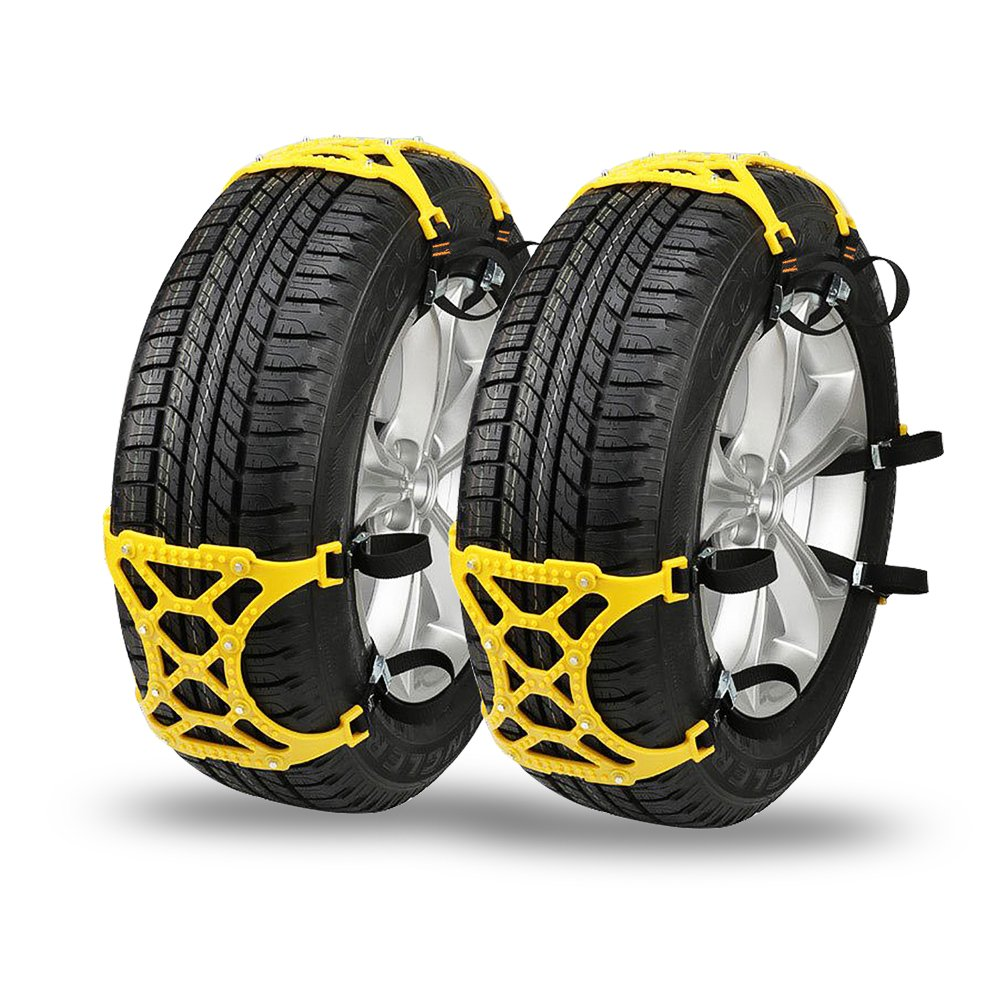 Anti Snow Chains Tire Emergency Thickening Adjustable Safety Anti-Skid Snow Tire Chains - Set of 6 for Car/SUV/Truck Universal