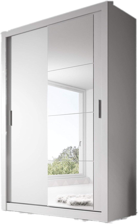 Arthauss – Guardarropa moderno con espejo en color blanco mate ...