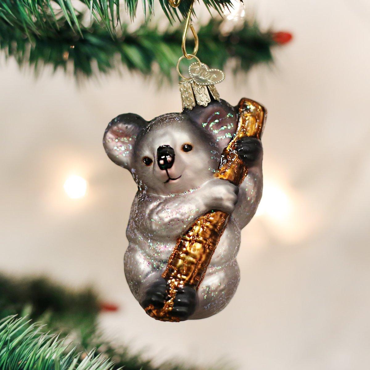 Old World Christmas Ornaments: Koala Bear Glass Blown Ornaments for Christmas Tree