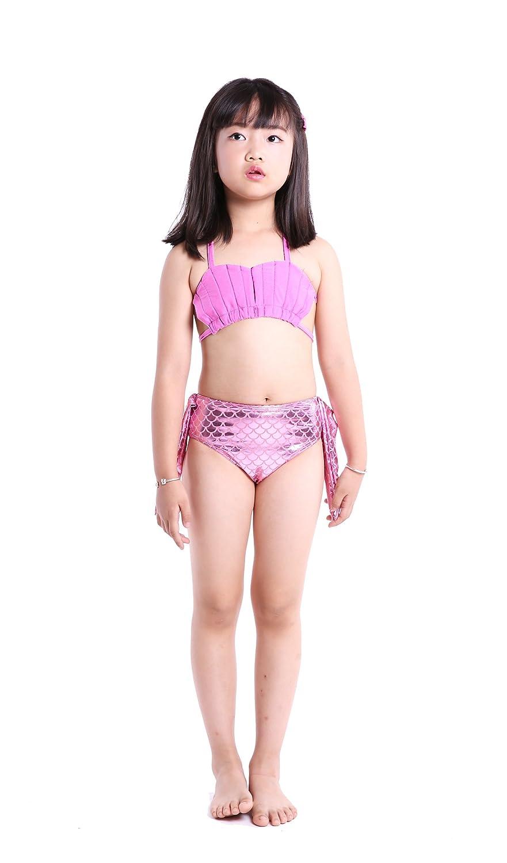 SAIANKE Girls Sparkle Mermaid Tails Swimmable Costume Swimwear Sets