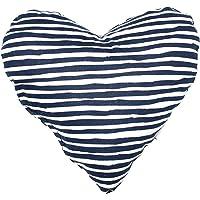 MOG & BONE Heart Shaped Soft Toy Blue Stripe Print
