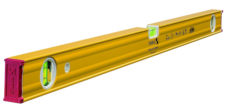 Stabila 2 80 as-2 Serie Double Plumb Wasserwaage, gelb, 121,9 cm 80AS-2