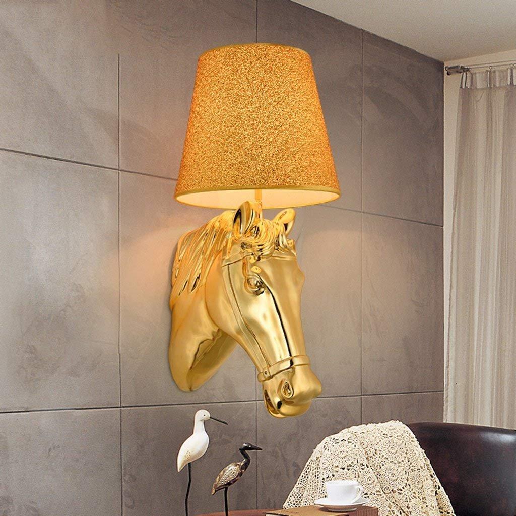 LQB LQB LQB Europäischen Stil Einfache Kreative Wandleuchte Moderne Nachttischlampe Schlafzimmer Gang Wohnzimmer Pferdekopf Wandleuchte B07GFCS94V   Up-to-date-styling  f376b4