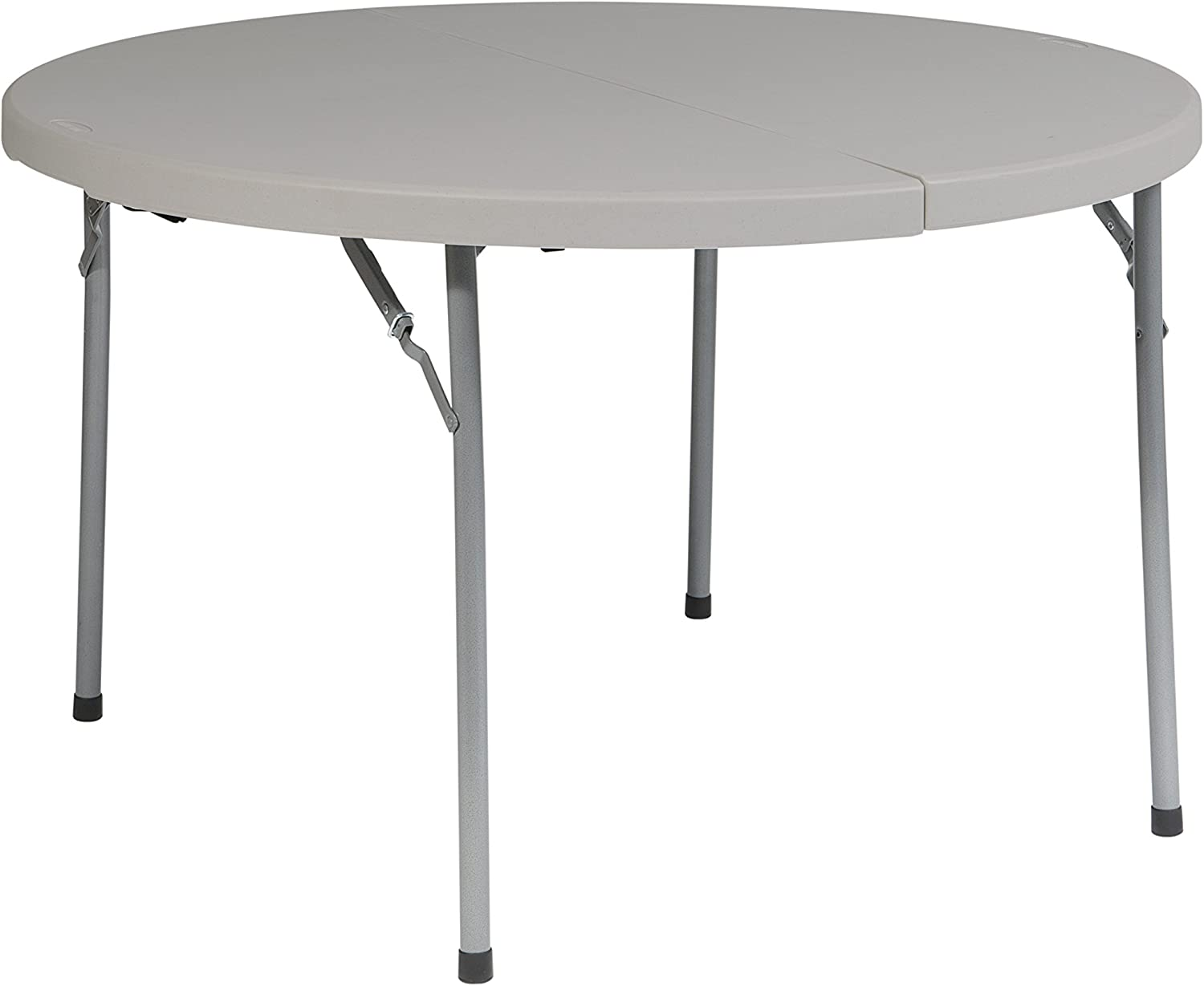 Office Star Resin Multipurpose Round Table. 48-Inch, Center Folding