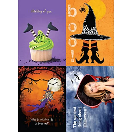 Amazon tree free greetings withes halloween card assortment 5 tree free greetings withes halloween card assortment 5 x 7 inches 8 cards m4hsunfo