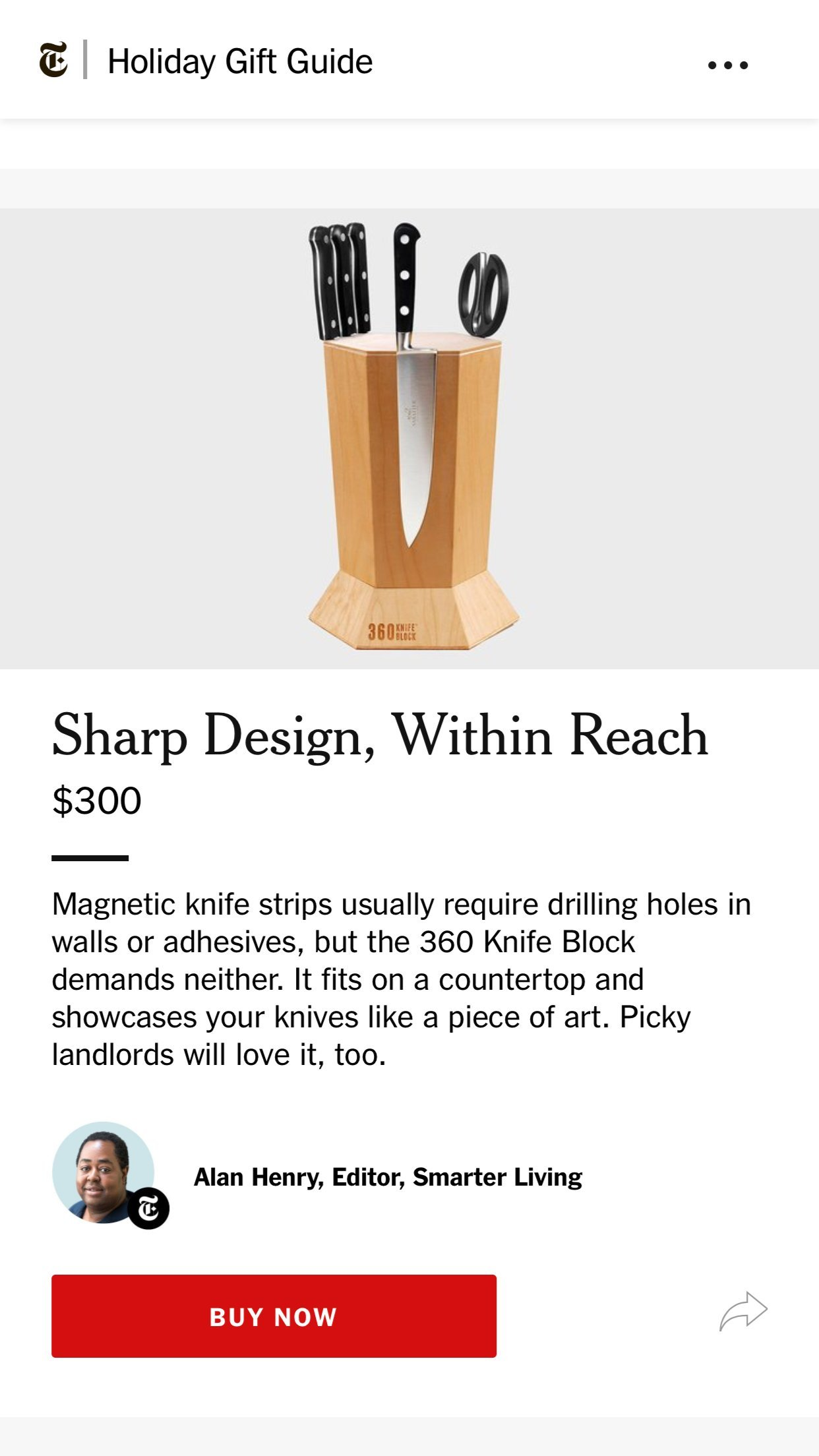360 Knife Block - (Maple) BEST universal knife storage according to independent research by 360 Knife Block (Image #3)