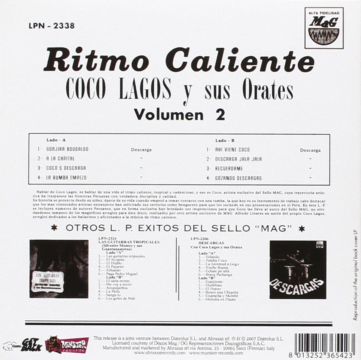 Ritmo Caliente: Coco Lagos Y Sus Orates: Amazon.es: Música