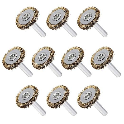 Uxcell banco de cepillo de rueda de alambre de 1 pulgada ...