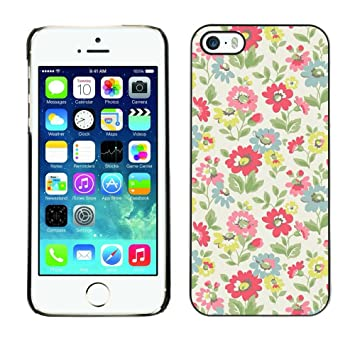For Apple Iphone 5 Iphone 5s Case Floral Spring Green