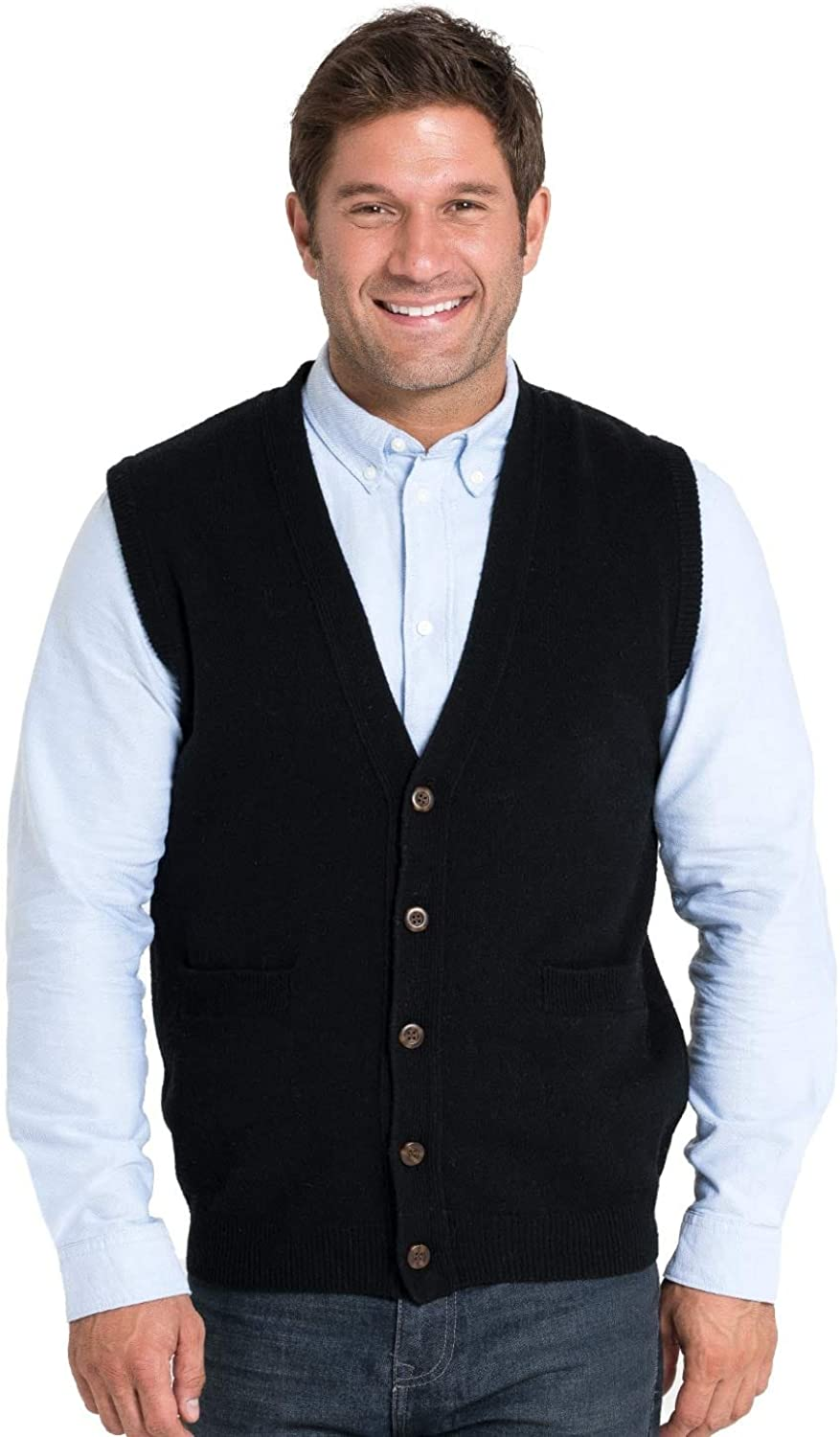 WoolOvers Mens Lambswool Knitted Vest