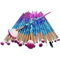 GreenLife® Makeup Brushes set 20 pcs Unicorn eye Makeup Brush kit Premium Synthetic Face Eyes Eyeliner Foundation Brush…
