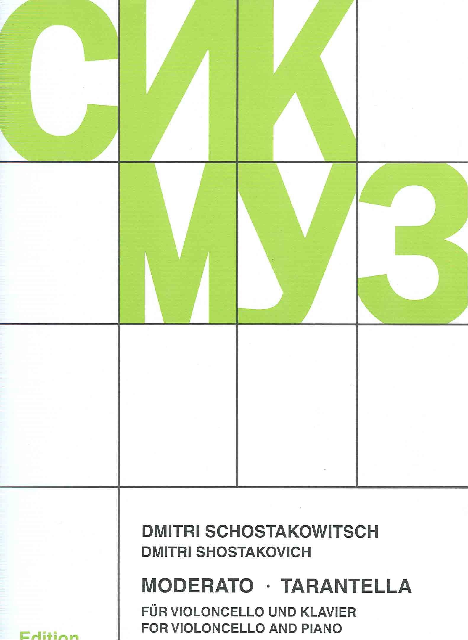 Shostakovich Moderato And Tarantella Dmitri Shostakovich
