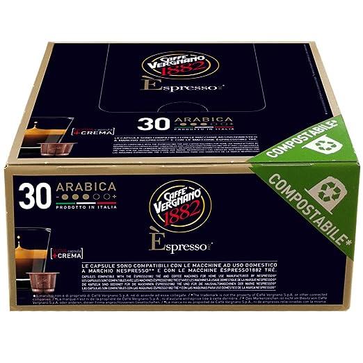 20 opinioni per Caffè Vergnano 1882 Èspresso1882 Arabica- 30 Capsule- Compatibili Nespresso