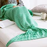 Amazon Price History for:NOPTEG Mermaid Tail Blanket, Soft Crochet Handcrafted Sleeping Bag Sofa Quilt Mermaid All Season Camping Sleeping Reading Blanket for Adult, Teen and Kids(Adult, Green)
