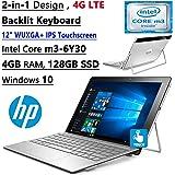 HP Spectre X2 12-Inch Convertible Flagship WUXGA FHD Touchscreen Laptop (Intel Core m3-6Y30 Dual-Core, 4GB RAM, 128GB SSD, Bluetooth, Windows 10) - Silver