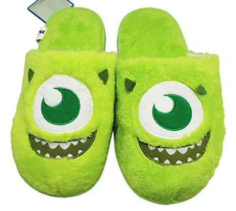 8f4c96f78aae Disney Pixar s Monsters Inc. Mike Wazowski Face Furry House Slippers (10.5  Men)  Amazon.ca  Luggage   Bags