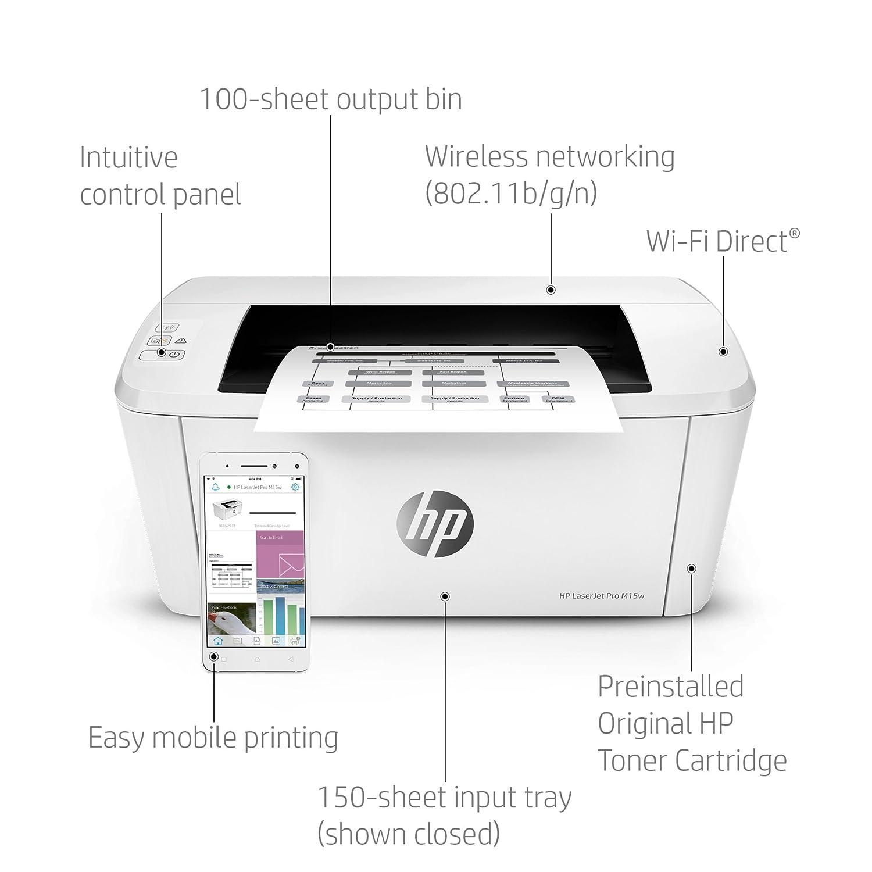 HP LaserJet Pro M15w SHNGC-1700-01 - Impresora láser (USB ...