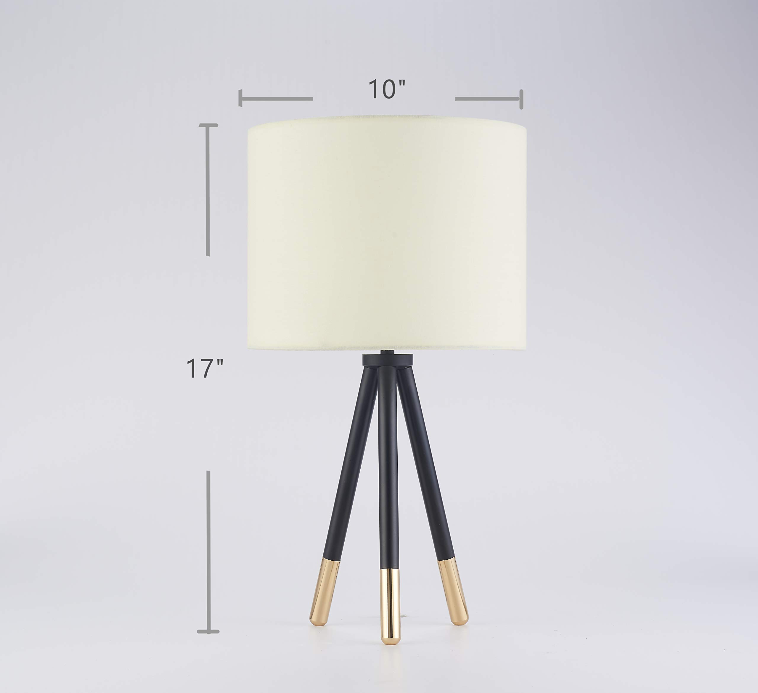 Tripod Table Lamp, Glossy Golden Feet