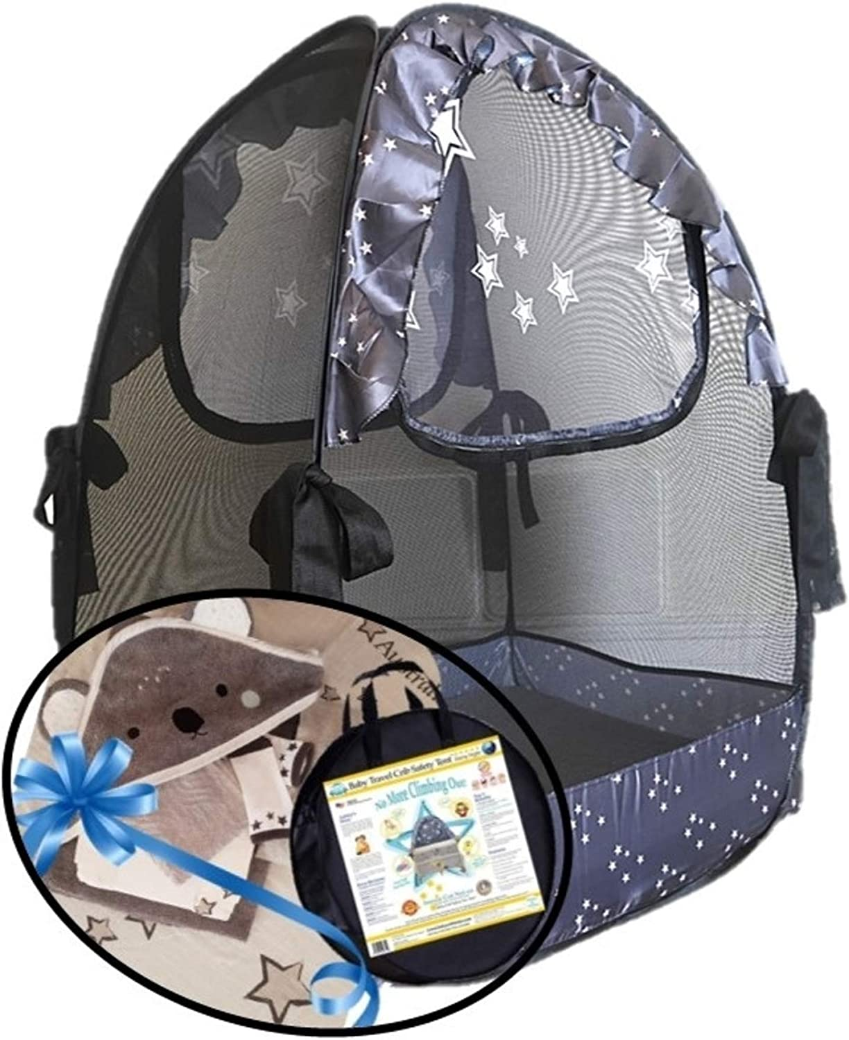 Mosquito Net Koala Gifts Aussie Cot Net Co Mini Cribs Tent a Must When Staying with Family Portable Ready to use on Vacation Pack n Play Travel Tent to Keep Baby from Climbing Out
