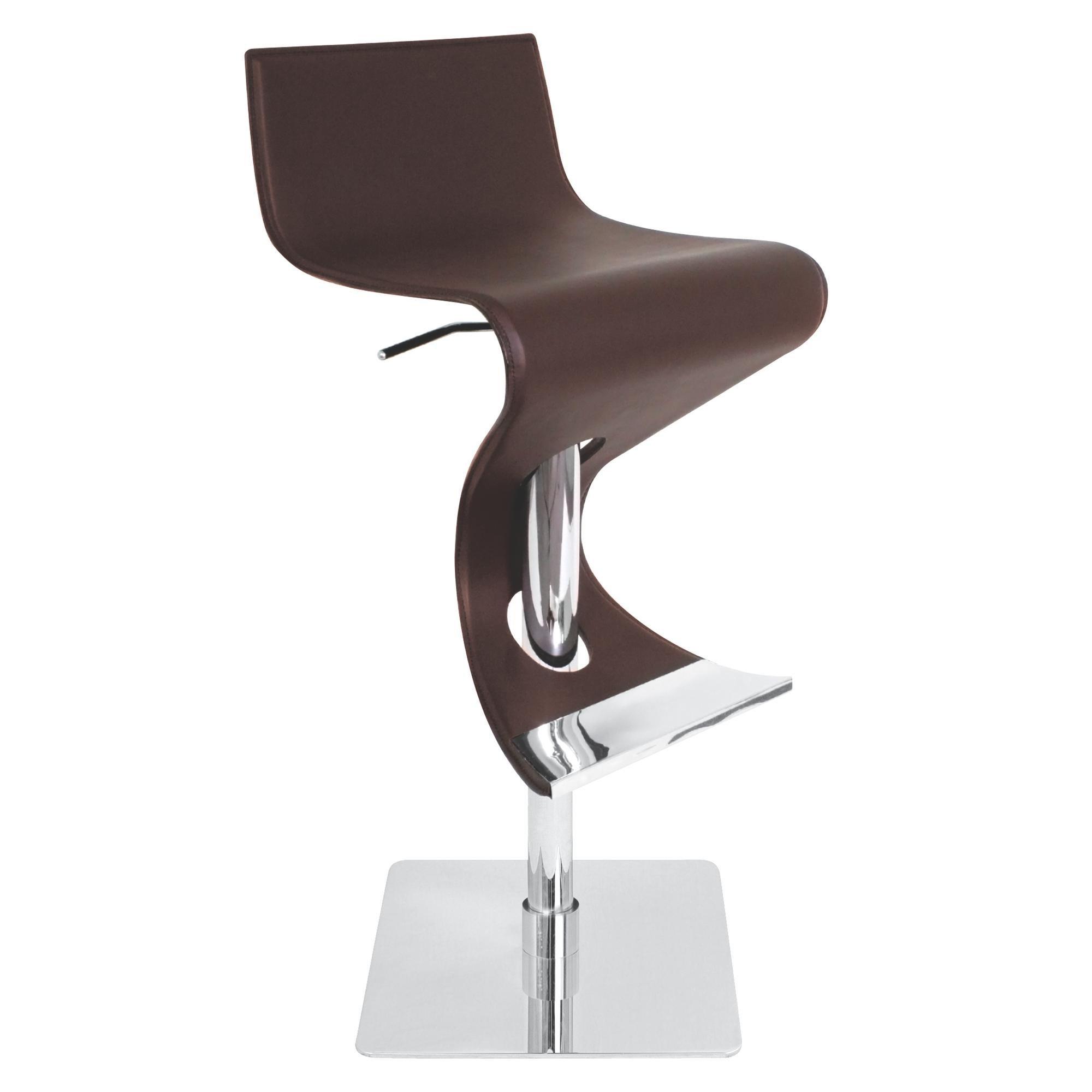 Lumisource Viva Height with Swivel Adjustable Barstool, Brown