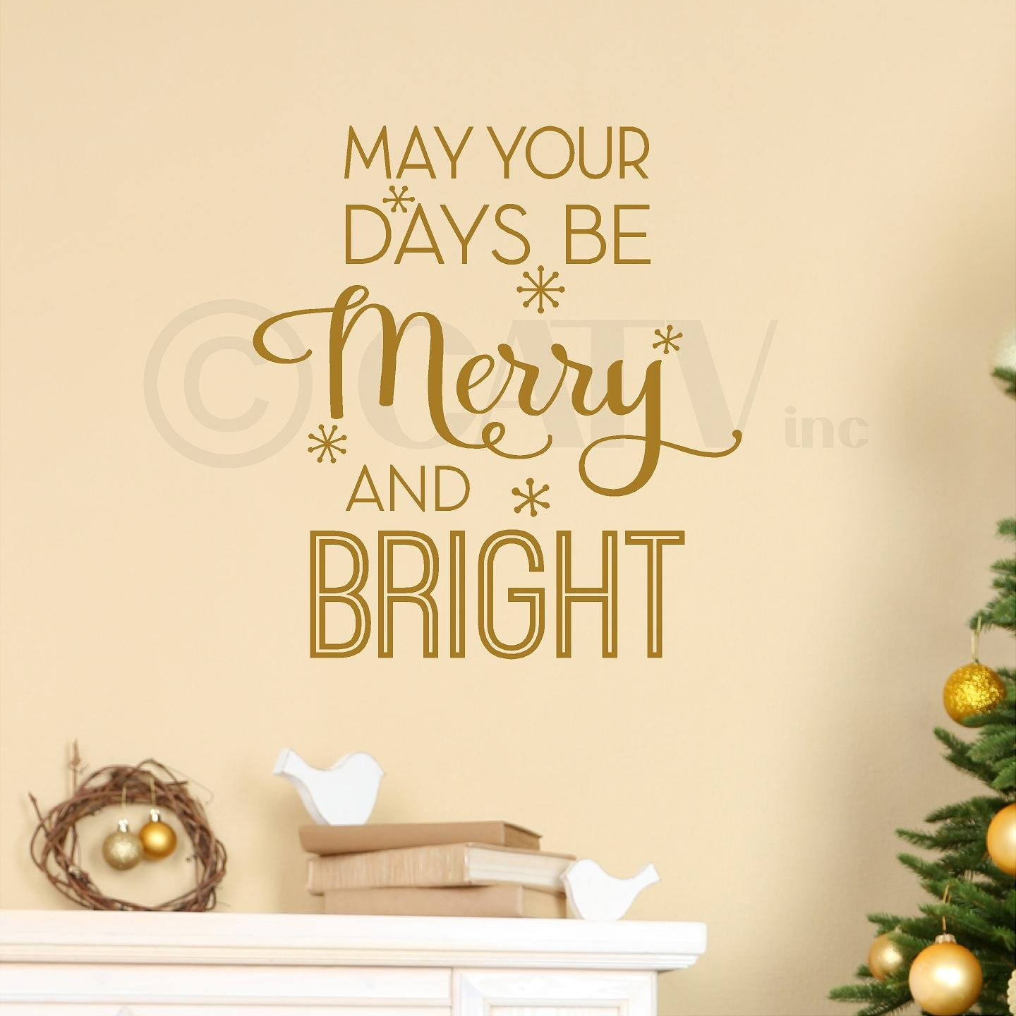 Amazon.com: May your days be Merry and Bright Christmas vinyl ...