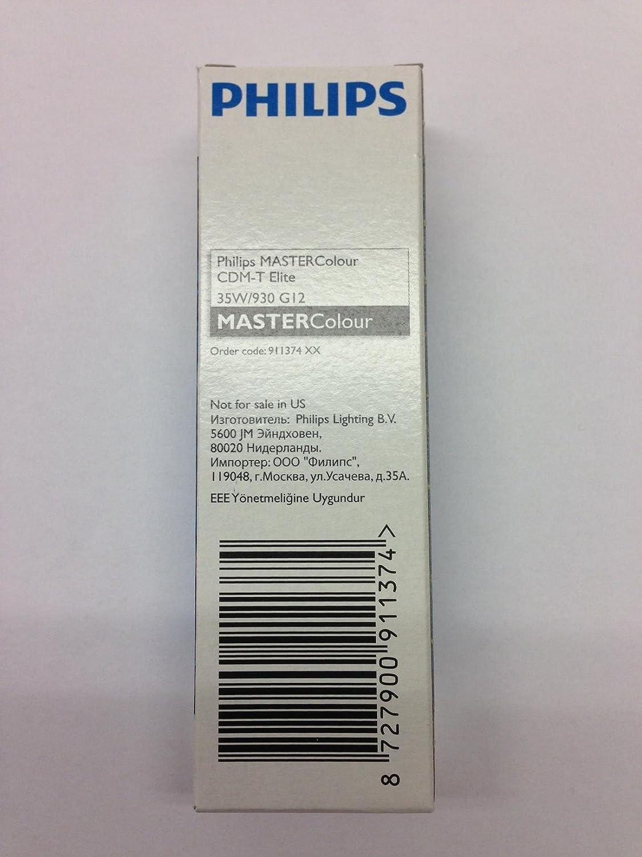 12 Pieces Philips CDM35T6/930-Elite Mastercolour G12-Base 911374 Metal Halide Lamp: Amazon.com: Industrial & Scientific
