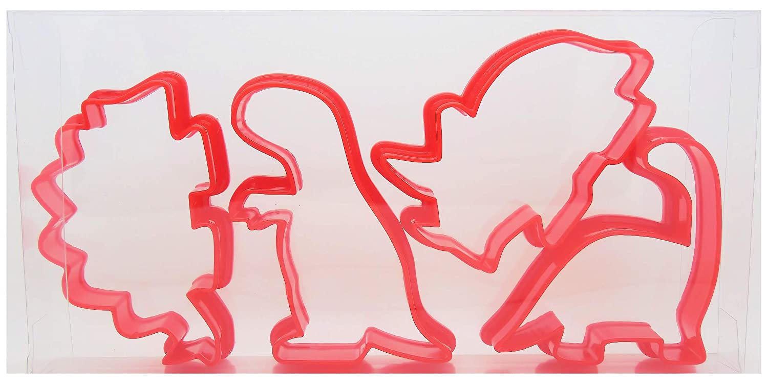 Dinosaur Cookie Cutters Set of Four, Biscuit, Pastry, Fondant Cutters Goggly