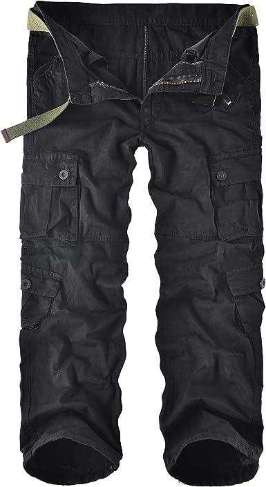 Amazon Com Leward Pantalones Cargo De Trabajo De Combate Para Hombre De Algodon Con 8 Bolsillos Informal Clothing