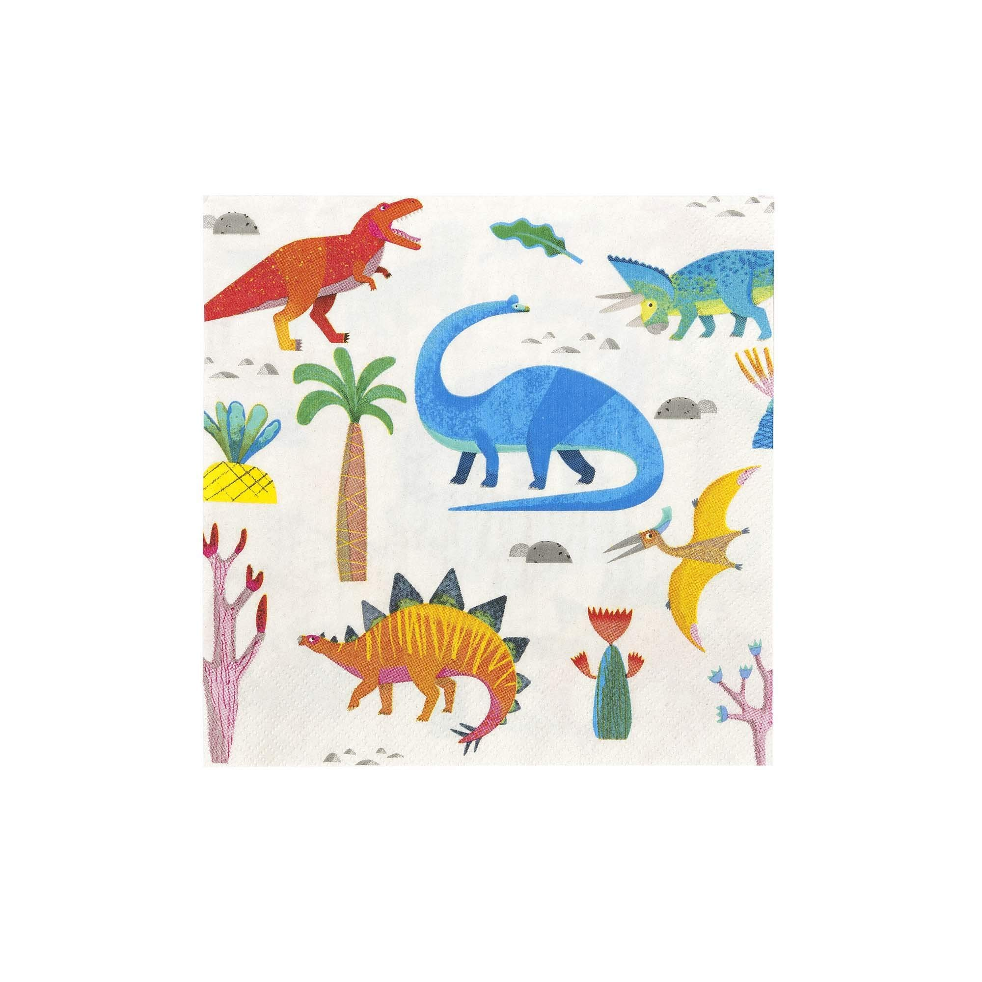 Dinosaur Party Supplies Dinosaur Birthday Decorations Kids Birthday Party Napkins Dinosaur Napkins Paper Napkins 6.5''sq Folded, Pack 40 by Talking Tables