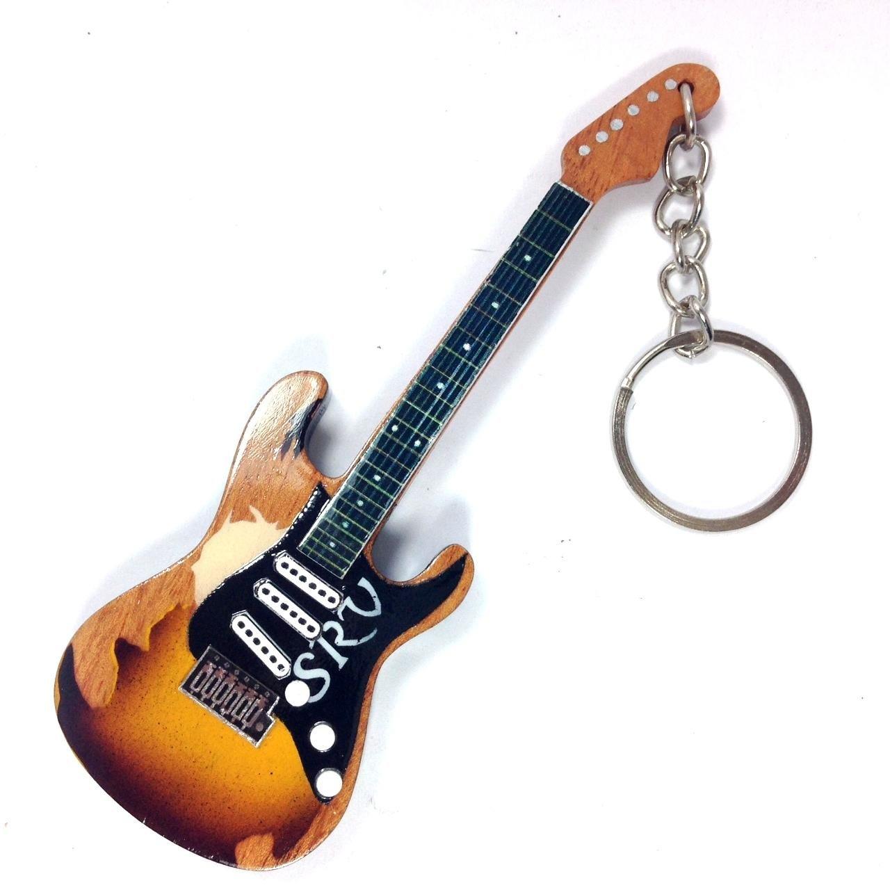 Portachiavi in Legno Forma Chitarra - Stevie Ray Vaughan SRV signature Eurasia1 srl