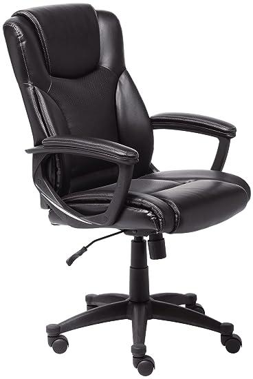 Beautiful Serta Style Hannah II Office Chair, Bonded Leather, Black
