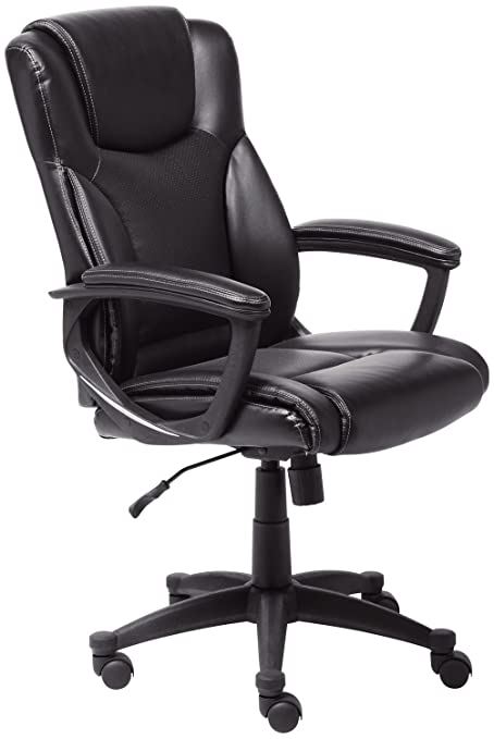 Serta Style Hannah II Office Chair Bonded Leather Black