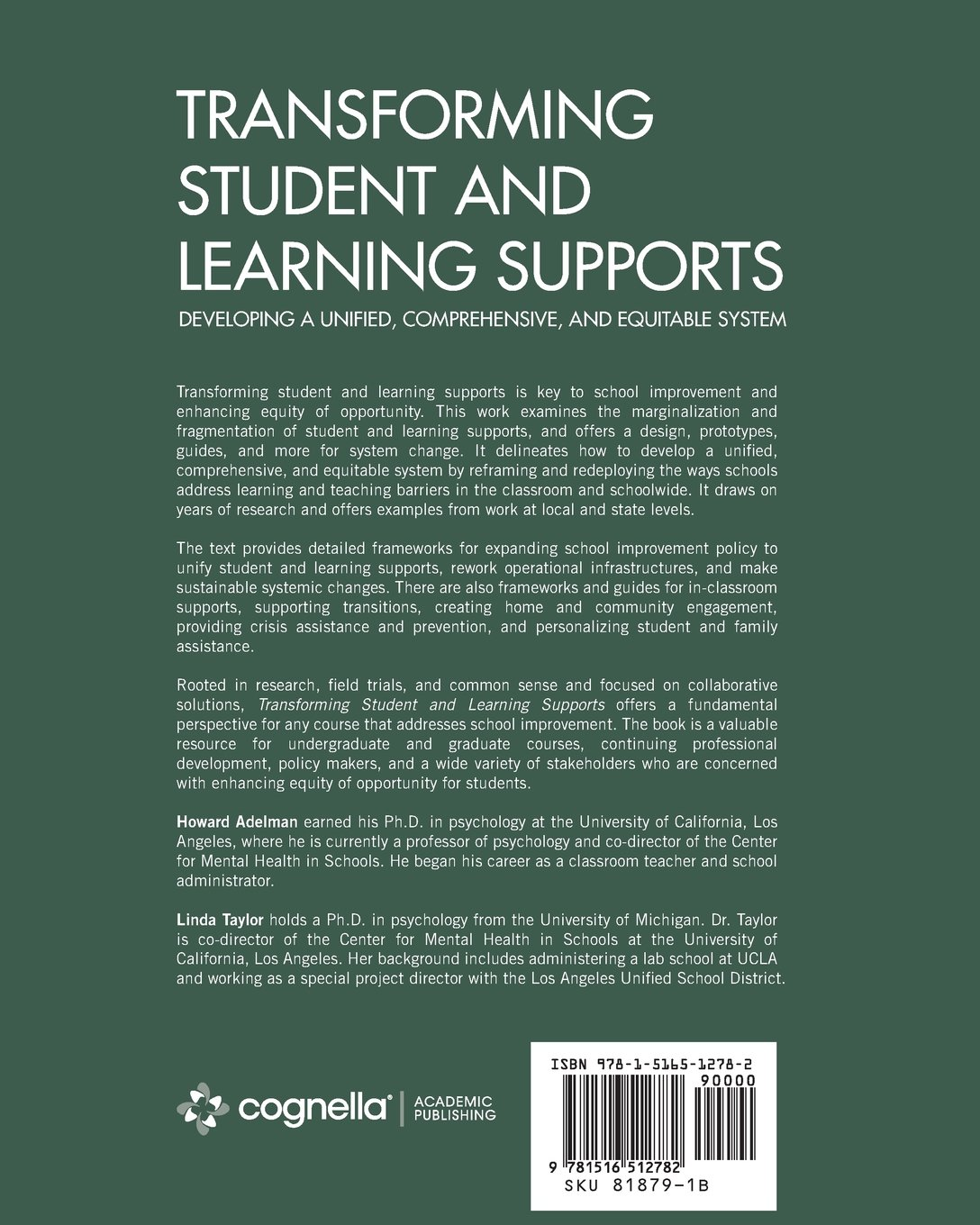 Transforming Student And Learning Supports Developing A Unified