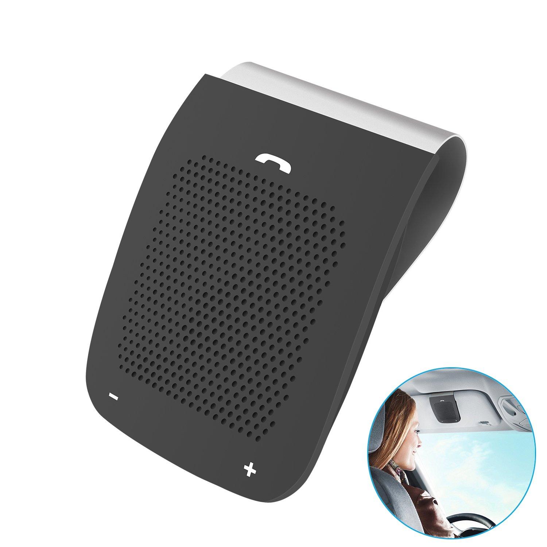 APEKX Hands-Free Bluetooth in-car Speakerphone, Wireless Car Kit Sun Visor  Speaker