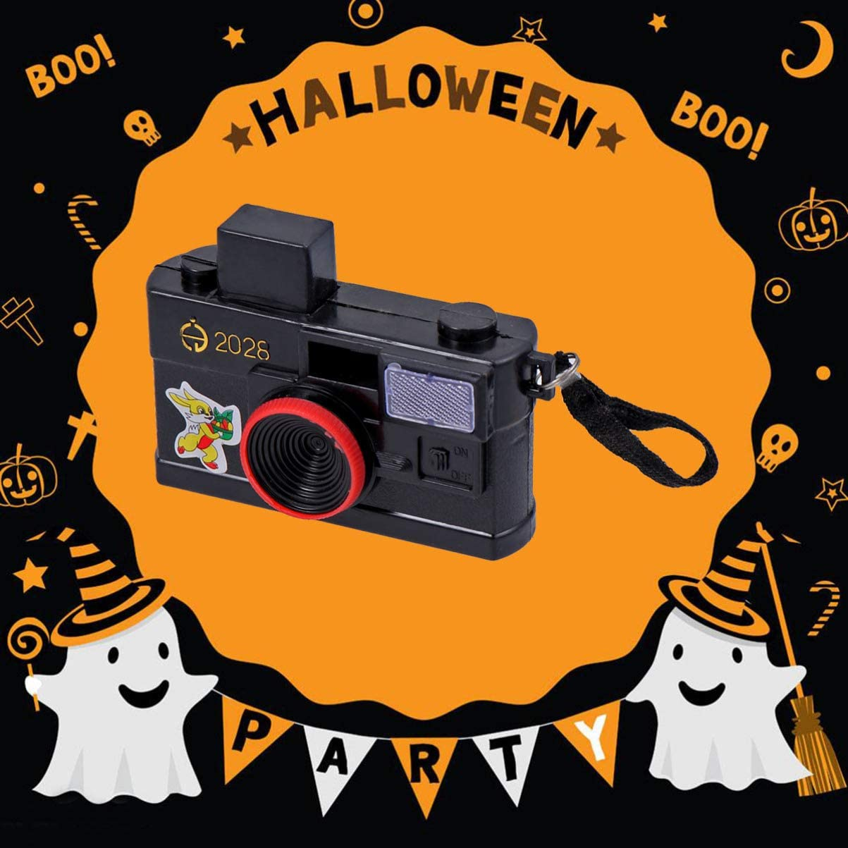 Amosfun Halloween Squirt Camera Funny Joke Prank Water Toy Simulation Camera Creative Trick Toy for Theme Party Kids Children Birthday Gift