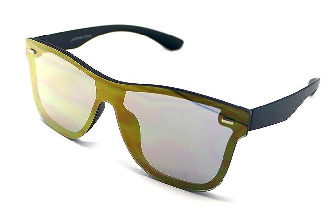 Totalcovers Gafas de Sol Lente Plana Lagofree W7038 Espejo ...