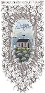 product image for Heritage Lace Bless This Home 12-Inch by 27-Inch Wall Hanging, White
