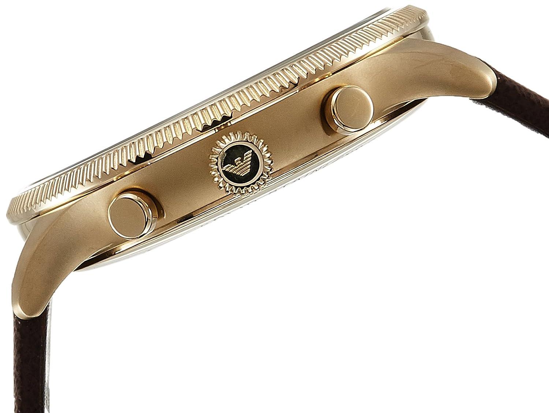 Amazon.com: Emporio Armani Mens AR1793 Dress Brown Leather Watch: Emporio Armani: Watches