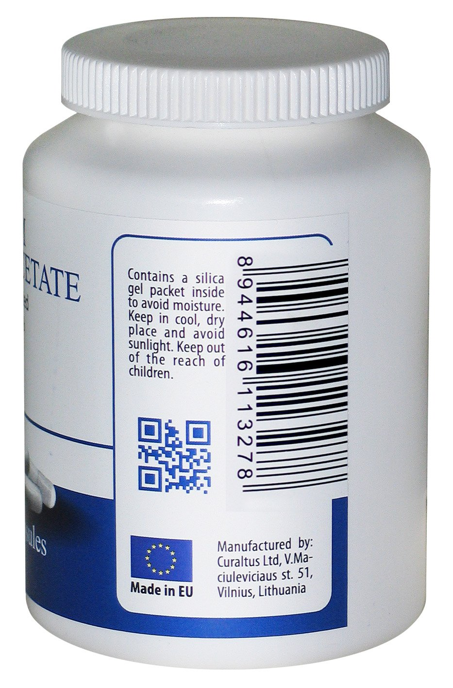 DCA - Sodium Dichloroacetate 333mg - Best Purity >99.9%, Made in Europe, by DCA-LAB, Certificate of Analysis Included, Tested in a Certified Laboratory, 180 Capsules