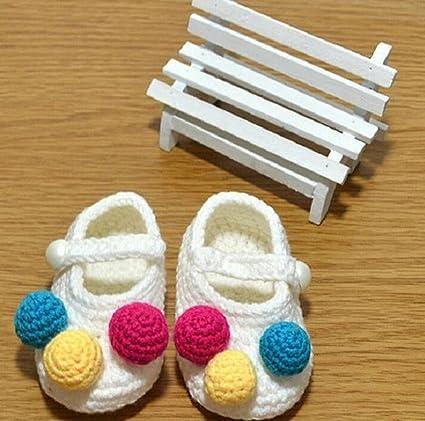 BESTIM INCUK hotborn para bebé niñas infantil ganchillo calcetines cuna zapatos