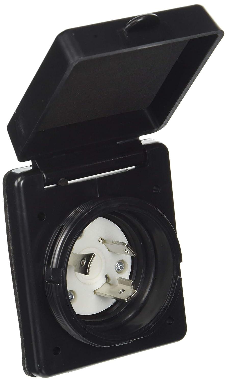 Epicord EXRV060B RV 30 Amp 125V Marine Twist Easy Lock Power Inlet Black