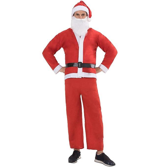 Amazon.com: EraSpooky - Disfraz de Santa Claus para hombre ...