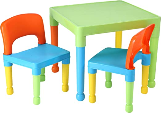 Libertad de Juguetes de los niños Mesa y 2 sillas Juego, plástico ...
