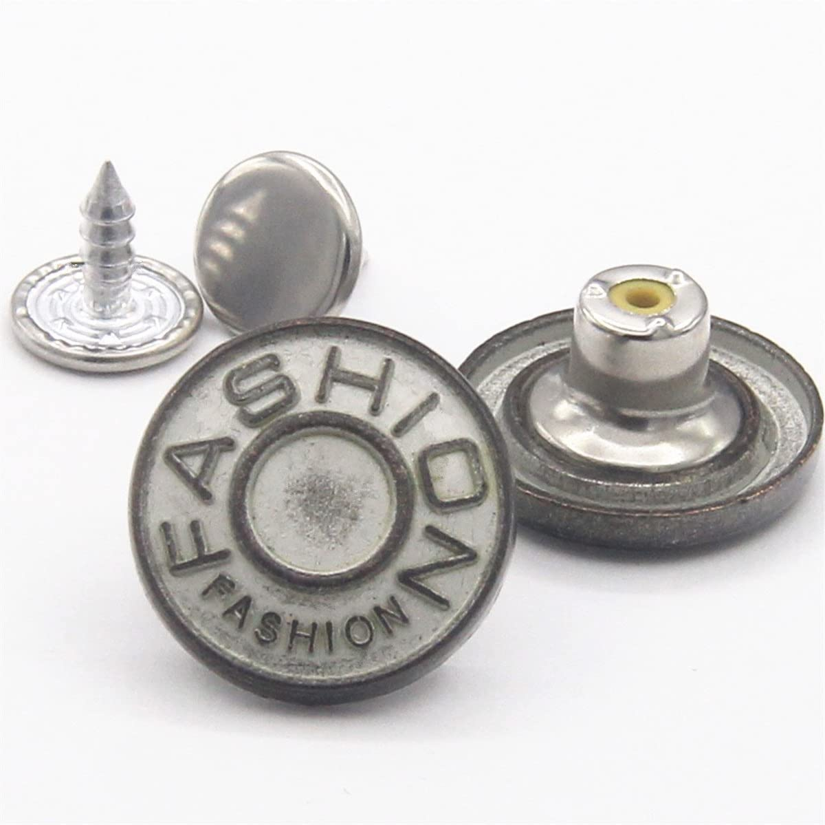 Flying Horse66 20mm GHQ Jeans Button Tack Jacket Buttons Metal Replacement Kit 12 Set